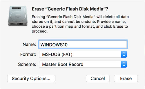 Disk Utility FAT32