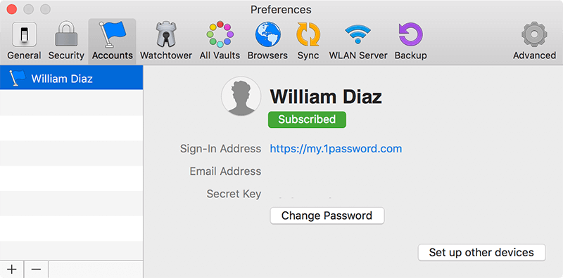 1Password Account