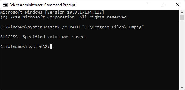 FFmpeg Windows Environment
